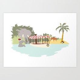 Jungle Calls Christmas Art Print
