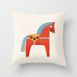 Christmas horse no2 Throw Pillow