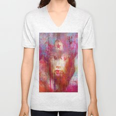 wonder abstract woman Unisex V-Neck