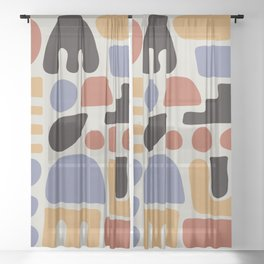 Shapes & Colors Sheer Curtain
