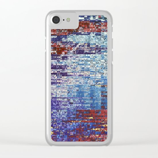 Abstract 127 Clear iPhone Case