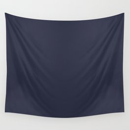 Peacoat Color Accent Wall Tapestry