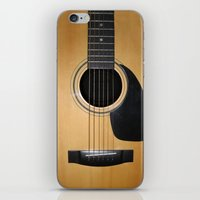 guitar iPhone & iPod Skins featuring Guitar by Nicklas Gustafsson