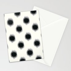 Ikat Dots Black and White Stationery Cards