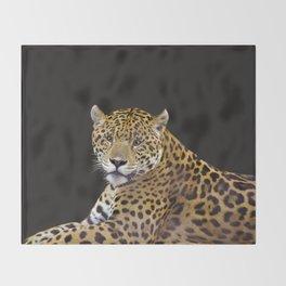 Jaguar At Rest - Big Cat Art Throw Blanket