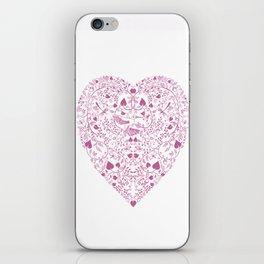Valentines heart iPhone Skin