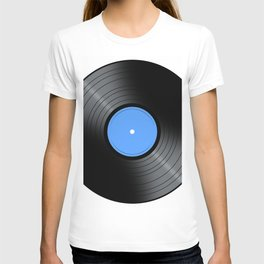 Music Record Blue T-shirt