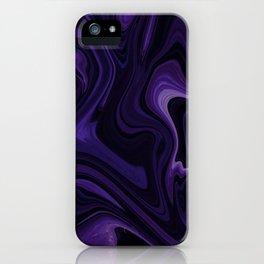 Purple liquefy Pattern iPhone Case