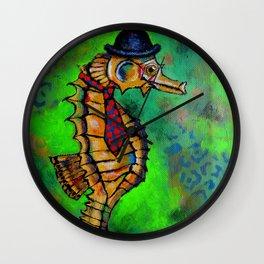 Mr. Seahorse Wall Clock