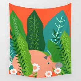 Piglet and sorrel Wall Tapestry