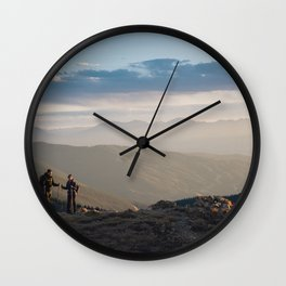 Mountain Dates Wall Clock