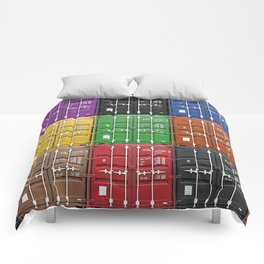 shipping container color box Comforters