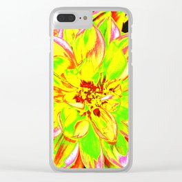 DAHLIA YELLOW Clear iPhone Case