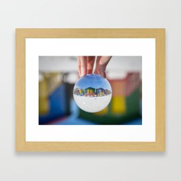 Changing Rooms at the Beach Framed Art Print