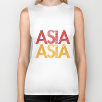 asia Biker Tanks featuring Asia for Asia by Park is Park