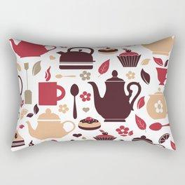 Tea Pattern Rectangular Pillow