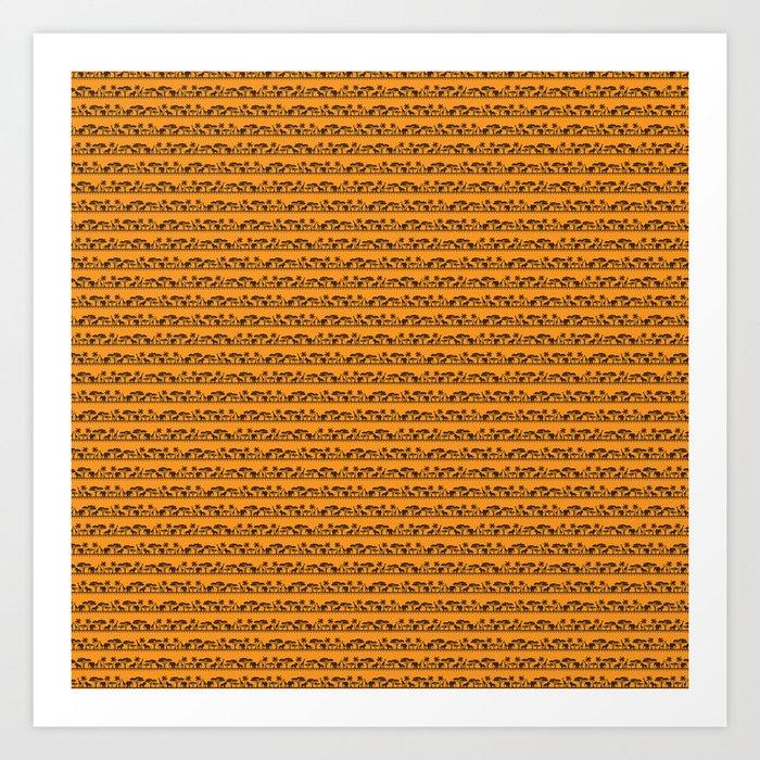 African Patterns Art Print by fasndesigns7