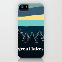 Great Lakes Tree Line iPhone Case