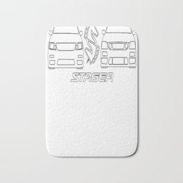 S1 S2 Stagea White Bath Mat