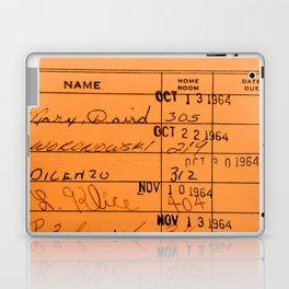 Library Card 23322 Orange Laptop & iPad Skin