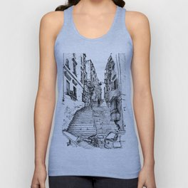 Naples Stairs Unisex Tank Top