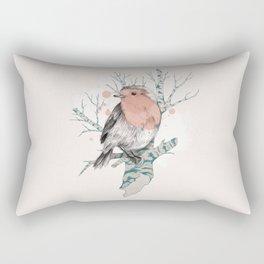 Robin on Birch Rectangular Pillow