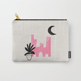 Minimalist Minimalism Abstract Architecture Plant Vase Paper Collage Moon by Ejaaz Haniff Carry-All Pouch