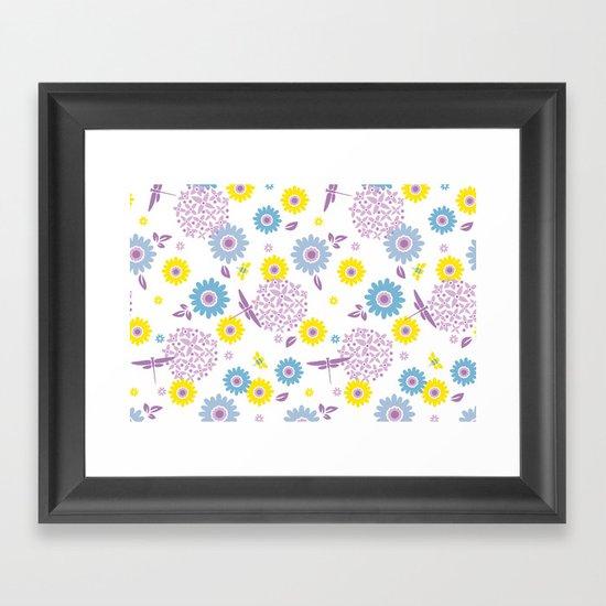 Summer Buzz Framed Art Print