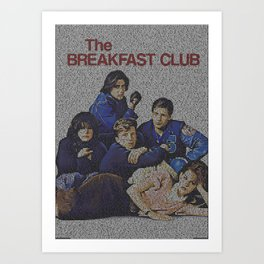 Text Portrait of The Breakfast Club with full script of the movie Art Print