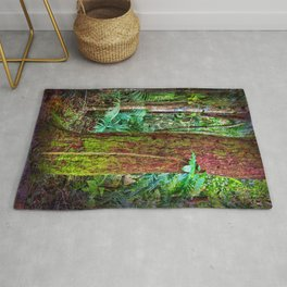 New and old rainforest growth Rug