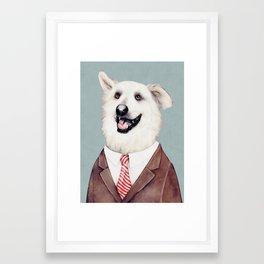 Happy Labrador Retriever Framed Art Print