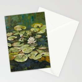 Lotus Pond Serenity Series I Stationery Cards