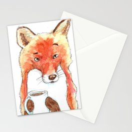 Skeptical Fox Stationery Cards