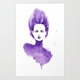 Purple Water Faery Art Print