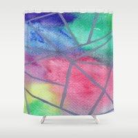 tie dye Shower Curtains featuring Tie dye by Bridget Davidson