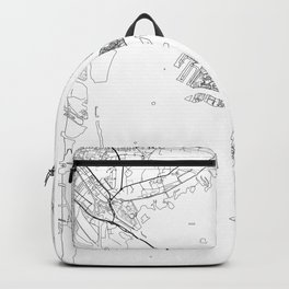 Venice Map White Backpack