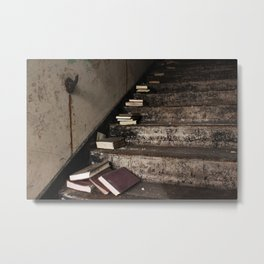 Stairway Of Books Metal Print