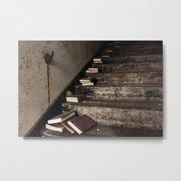 Stairway Of Books Metal Print