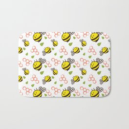 Cuddly Bees and Hives Bath Mat