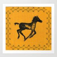 yellow foal Art Print