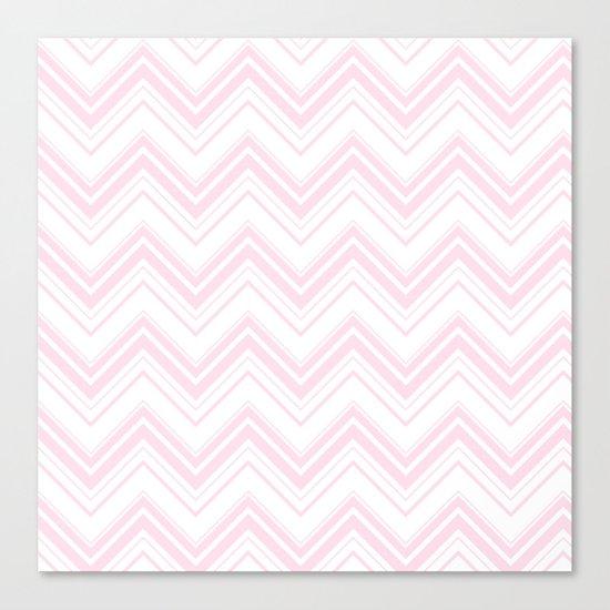 Chevron Zig Zag pattern pink on white on #Society6 Canvas Print