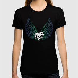 Blue Smiley Wings T-shirt