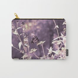 Infrared Butterfly with Flowers Carry-All Pouch
