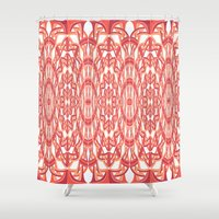 versace Shower Curtains featuring Looks Like Versace by Gabriel J Galvan