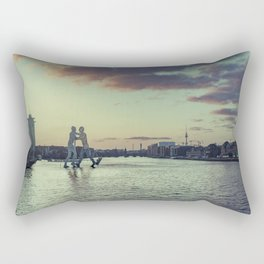 Molecule Man Rectangular Pillow