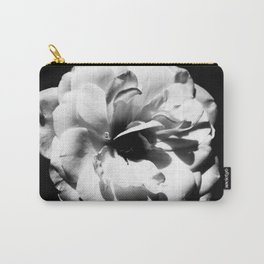 Petals in Black and White Carry-All Pouch