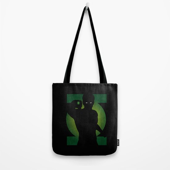 SuperHeroes Shadows : Green Lantern Tote Bag