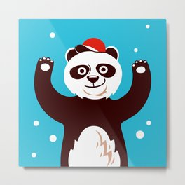 Hello children, says the panda with the claws up Metal Print