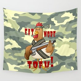 Eat More Tofu Wall Tapestry