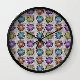Pop Art Daisys Wall Clock
